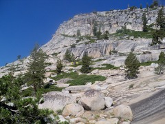 Rock Climbing Photo: View from the base of the slabs on the approach. F...