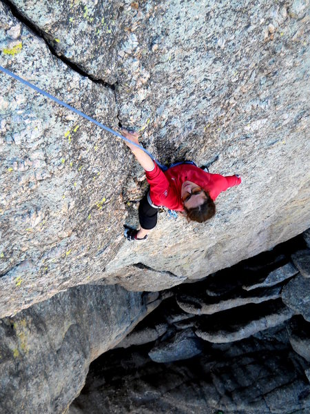 Good finger locks at the top of Nick of Time, most of the climb however is @POUND@4 Camalots.