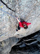 Rock Climbing Photo: Good finger locks at the top of Nick of Time, most...