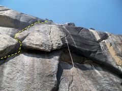 Rock Climbing Photo: ock of Ages (rope is hanging over Double Feature)