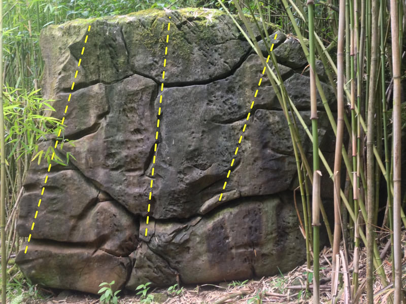 Rock Climbing Photo: Front of Makaleha Forest Boulder