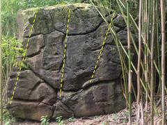 Rock Climbing Photo: Front of Makaleha Forest Boulder