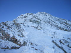 Rock Climbing Photo: Looking up the first pitch after gaining the ridge...