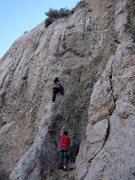 """Rock Climbing Photo: DK and Jenn thinkin'...""""hey, this might be fu..."""
