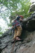 Rock Climbing Photo: Start of Unexpected Party after overhanging flake ...