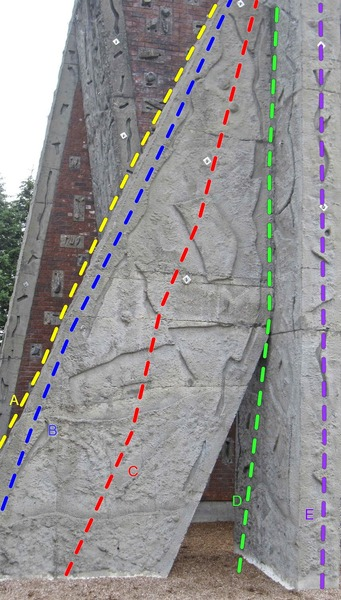 Rock Climbing Photo: South face and corner of the South Buttress.