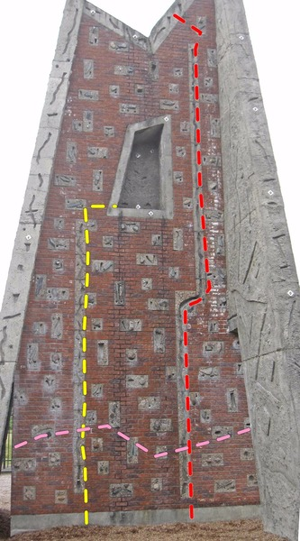 Rock Climbing Photo: Left side of the north face of the E. Tower. The n...