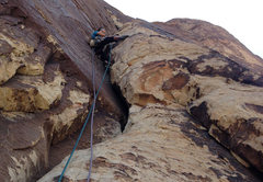 Rock Climbing Photo: Me on p4, DOWT