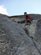 Rock Climbing Photo: Wild Man Scott shaking out after cruizing the 5.10...