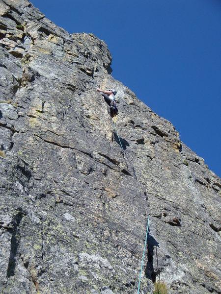 Rock Climbing Photo: 1st pitch.