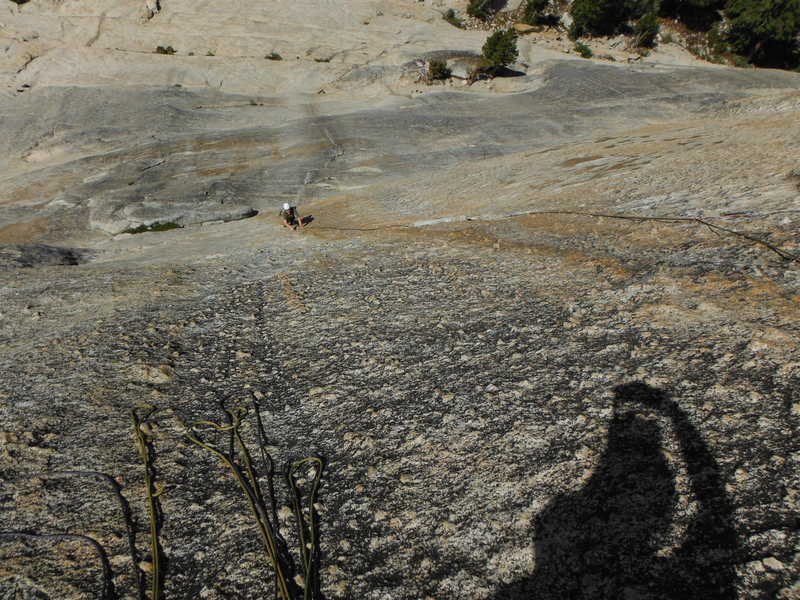 Rock Climbing Photo: Don Jheff enjoying the second pitch knobs of El Co...