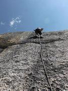 Rock Climbing Photo: Don Jheff stuffing pockets pitch 3 El Condor.
