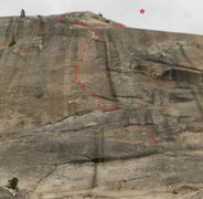 Rock Climbing Photo: Plagiarism - West Face Daff Dome