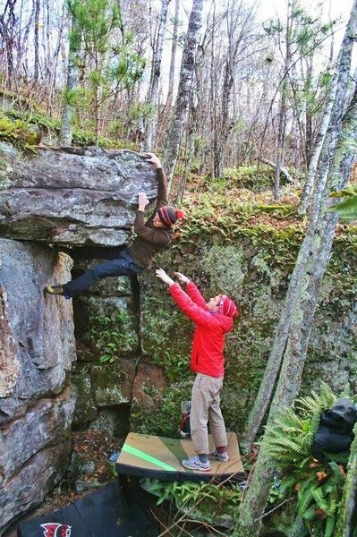 Rock Climbing Photo: Levi on the second known ascent of The Bow Hunter