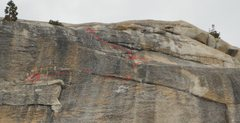 Rock Climbing Photo: Pitch 2 Grey Ghost - Daff Dome West Face