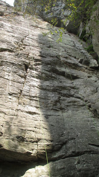 Rock Climbing Photo: Rope on the route.