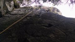 Rock Climbing Photo: The rope is the route.