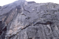 Rock Climbing Photo: Monolith, Vein of Gold 5.10c. First Ascent.