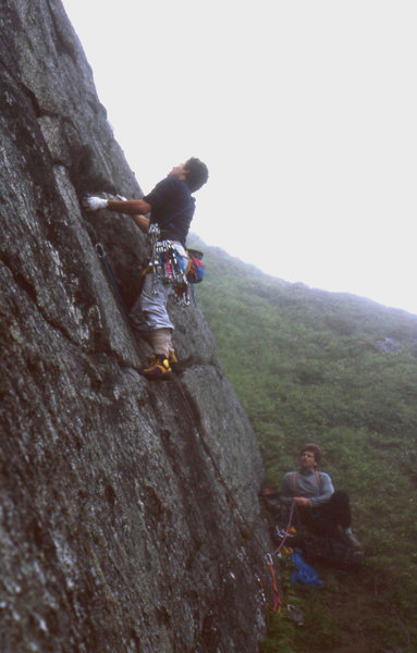 Rock Climbing Photo: Paul Wharton and Steve Garvey. Monolith, Checkered...