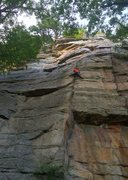 Rock Climbing Photo: Melissa on Retribution