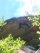Rock Climbing Photo: Me and Melissa following on Stannard's Roof
