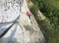 Rock Climbing Photo: Melissa at the flake