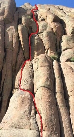 Rock Climbing Photo: This is how we did the route. Felt very stiff, to ...
