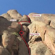 Rock Climbing Photo: Top 2 pitches. Multiple options leaving the steel ...