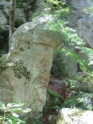 Rock Climbing Photo: Boulder problem, looks tough, 17 feet high give or...