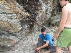 Rock Climbing Photo: Wanaka lake boulders