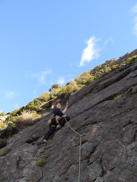 Rock Climbing Photo: Sebastapol Bluffs, Red Arete