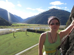 Outside of Wanaka. Can't remember this area's name. Most beautiful spot around though, way better rock than Hospital Flats.