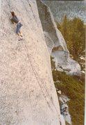 Rock Climbing Photo: Seamstress 12b, Courtwright Res FA in like 1988ish