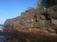 Rock Climbing Photo: Far left side of main Lumahai South wall