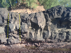 Rock Climbing Photo: Middle of Lumahai South wall