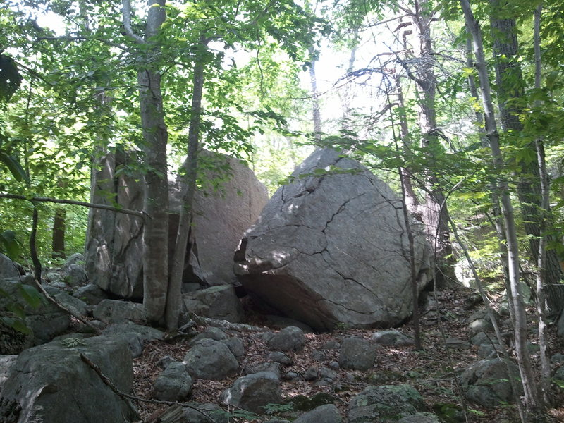 A look at the upper boulders.