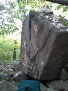 Rock Climbing Photo: Obvious face climb following the seam.