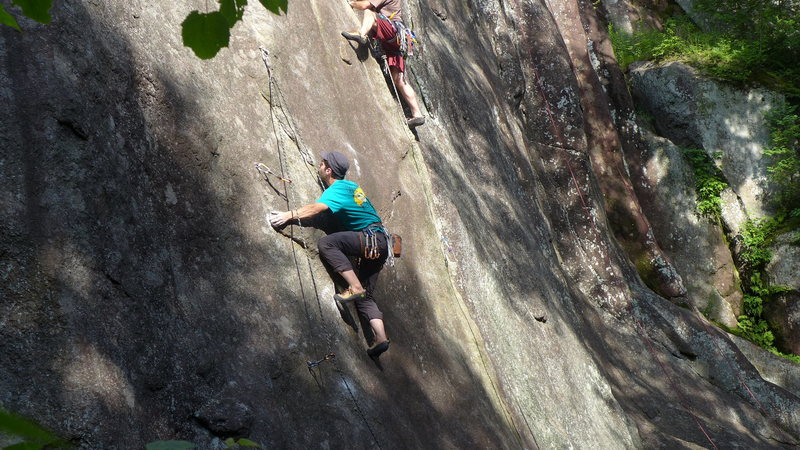 Rock Climbing Photo: Thin slab climbing on Sonatine.