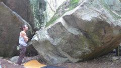 Rock Climbing Photo: Guillaume Scoping The Orbital Traverse.