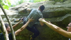 Rock Climbing Photo: Topping out on November.