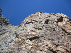 Rock Climbing Photo: This is pitch 5, a short crack to your left takes ...