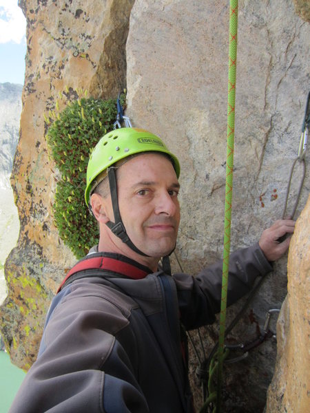 Rock Climbing Photo: This is just below the summit, having followed the...