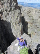 Rock Climbing Photo: The rappel off the summit is where Sonya is sittin...