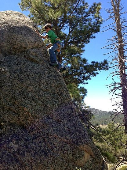 Bryn on Goldfinch (5.7), Holcomb Valley Pinnacles