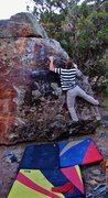 Rock Climbing Photo: Working up the arete on Start and Finish.