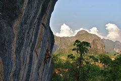 Rock Climbing Photo: Dopamine 12b. In Thakhek, Loas