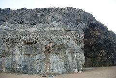 Rock Climbing Photo: Voor Jos 5.8+ Grapefield, Aruba