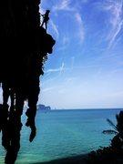 Rock Climbing Photo: First Pitch of Humanality. Tonsai, Thailand
