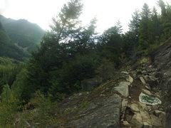 Rock Climbing Photo: Ledge at the base of ES-1
