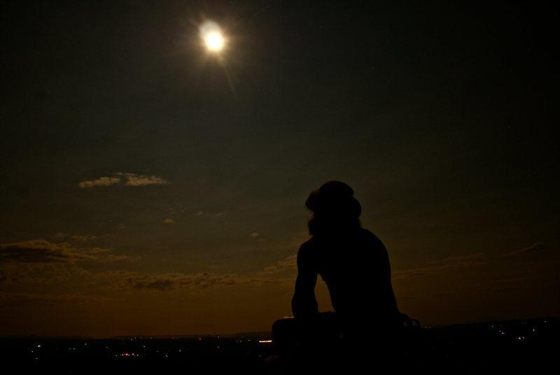 Rock Climbing Photo: Moonlight Climbing. Gunks, NY